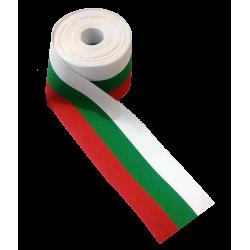 Тъкана трикольорна лента 9 см