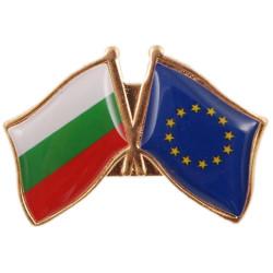 Значка с българско и европейско знаме