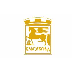 Флаг на Благоевград печатан