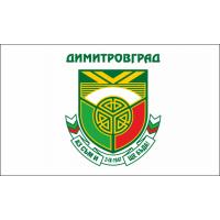 Флаг на Димитровград за бюро 16 х 22 см.