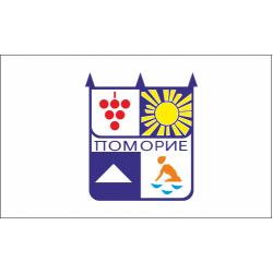 Флаг на Поморие печатан