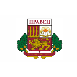 Флаг на Правец печатан