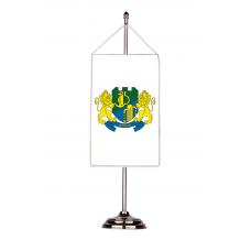 Флаг на Девня с двойна хоругва 13 х 18 см.