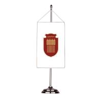 Флаг на Добрич с двойна хоругва 13 х 18 см