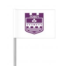 Флаг на Ловеч от хартия 16 х 22 см.