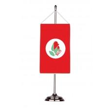 "Партийно знаме ""БСП"" с двойна хоругва 13 х 18 см."