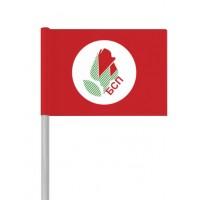 """Партийно знаме """"БСП"""" от хартия 16 х 22 см."""
