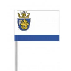 Флаг на Бургас от хартия 16 х 22 см.