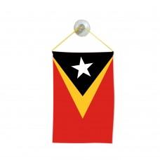 Флаг на Източен Тимор за кола 10 х 15 см.