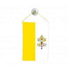 Флаг на Ватикана за кола 10 х 15 см.