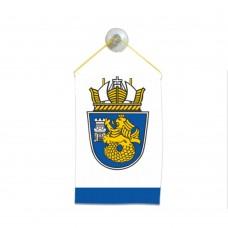 Флаг на Бургас за кола 10 х 15 см.