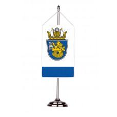 Флаг на Бургас с двойна хоругва 13 х 18 см.