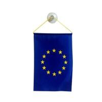 Флаг на Европейския съюз за кола 10 х 15 см