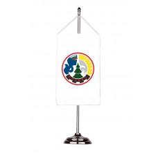 Флаг на Борово с двойна хоругва 13 х 18 см.