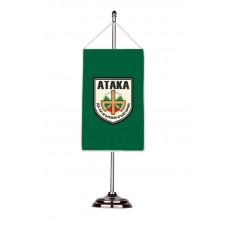 "Партийно знаме ""Атака"" с двойна хоругва 13 х 18 см."
