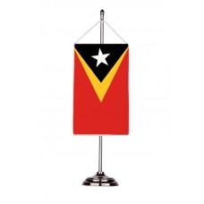 Флаг на Източен Тимор с двойна хоругва 13 х 18 см.