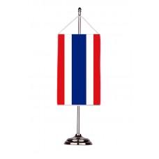 Флаг на Тайланд с двойна хоругва 13 х 18 см