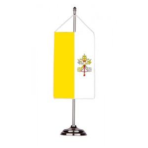 Флаг на Ватикана с двойна хоругва 13 х 18 см