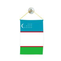 Флаг на Узбекистан за кола 10 х 15 см.